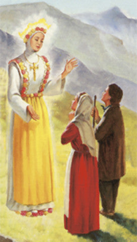 Image of OUR LADY OF LASALETTE HOLY CARD
