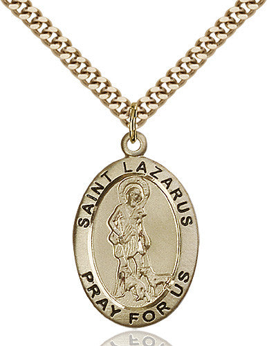 Image of St. Lazarus Pendant (Gold Filled)