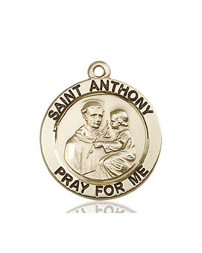 st_anthony_of_padua_medal_14kt_gold