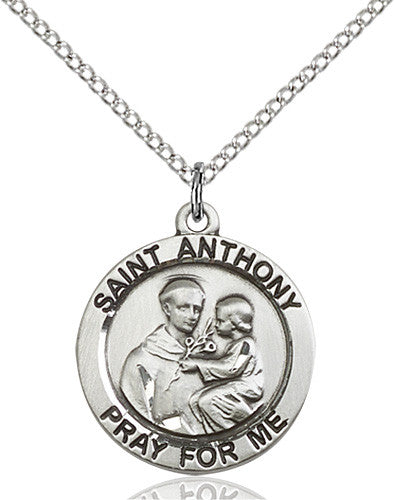 St. Anthony of Padua Pendant (Sterling Silver)