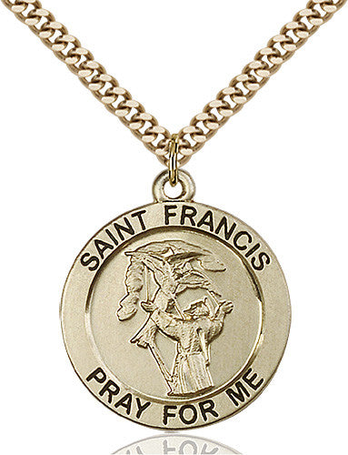 Image of St. Francis Pendant (Gold Filled)