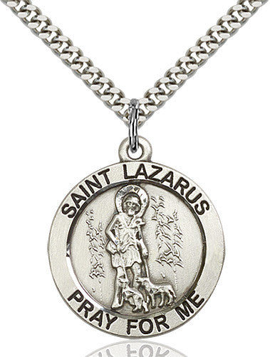 St. Lazarus Pendant (Sterling Silver)