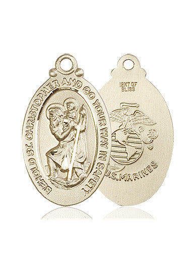 Image of St. Christopher Medal (14kt Gold)