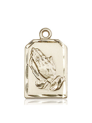 14kt Gold Praying Hands Medal