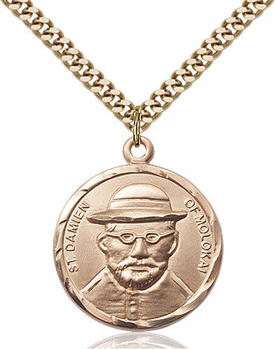 Image of St. Damien of Molokai Pendant (Gold Filled)