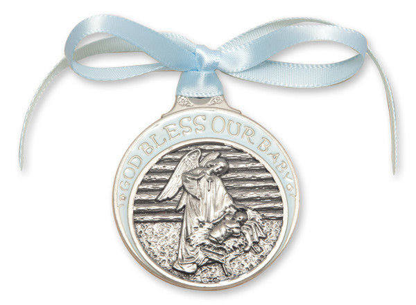 manger_crib_medal_blue_ribbon
