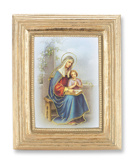 St Anne Gold Stamped Print in Gold Frame