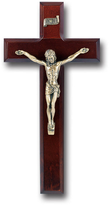 "10"" Dark Cherry Wood Cross"