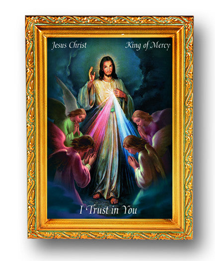 jesus_king_of_mercy_gold_frame