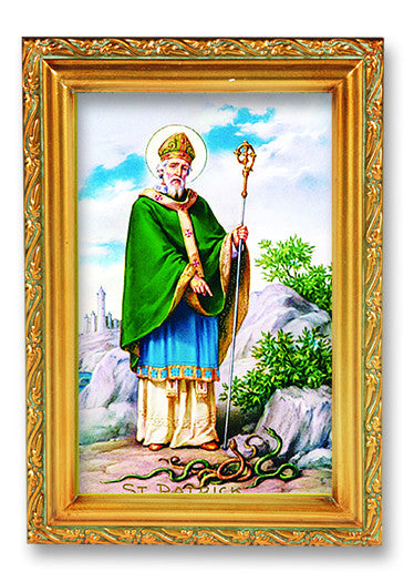 Image of ST PATRICK WOOD TONE FRAME
