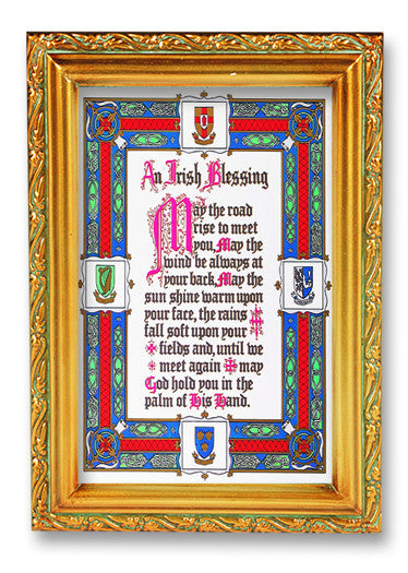 irish_blessing_wood_tone_frame