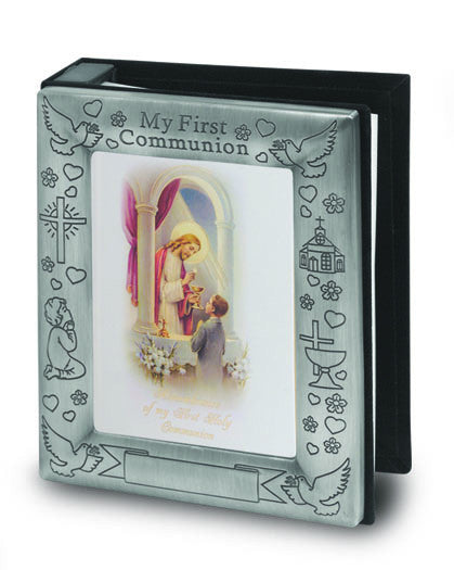 Image of PEWTER FINISH PHOTO ALBUM HOLDS