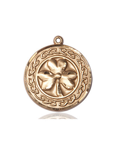 shamrock_with_celtic_border_medal_14kt_gold