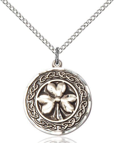 shamrock_celtic_border_pendant