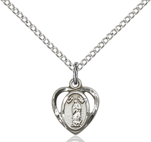 Image of Our Lady of Guadalupe Pendant (Sterling Silver)