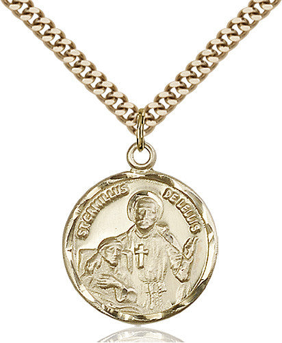 Image of St. Camillus of Lellis Pendant (Gold Filled)