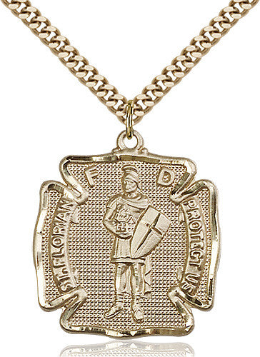 Image of St. Florian Pendant (Gold Filled)