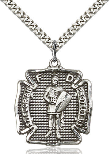 Image of St. Florian Pendant (Sterling Silver)