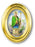 Image of ST PATRICK GOLD OVAL FRAME