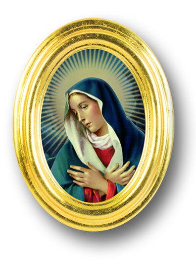 Image of O.L. OF DIVINE MERCY  GOLD OVAL