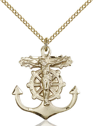 anchor_crucifix_pendant_14_karat_gold_filled