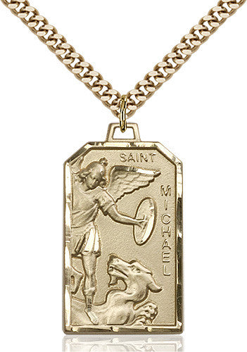 St. Michael the Archangel Pendant (14 Karat Gold Filled)