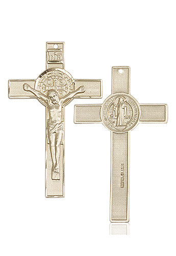st_benedict_crucifix_medal_14kt_gold