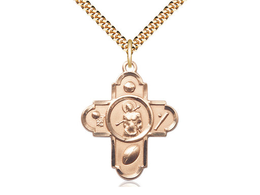 5-WAY / St. Sebastian 14 Karat Gold Filled Pendant