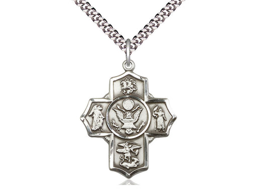 Sterling Silver 5-Way / Army Pendant
