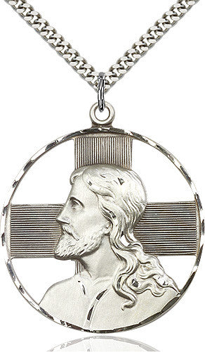 Christ Profile Pendant (Sterling Silver)