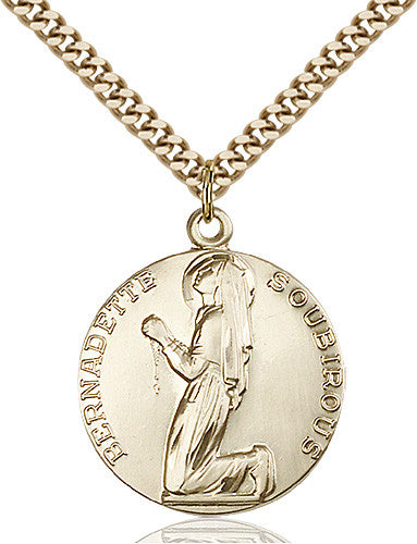 Image of St. Bernadette Pendant (Gold Filled)