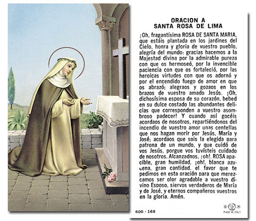 Image of SANTA ROSA HOLY CARD