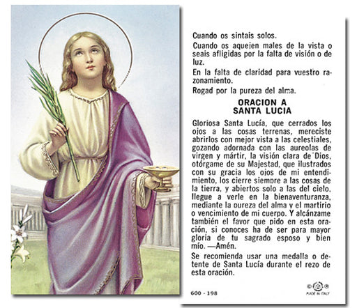 Image of SANTA LUCY HOLY CARD