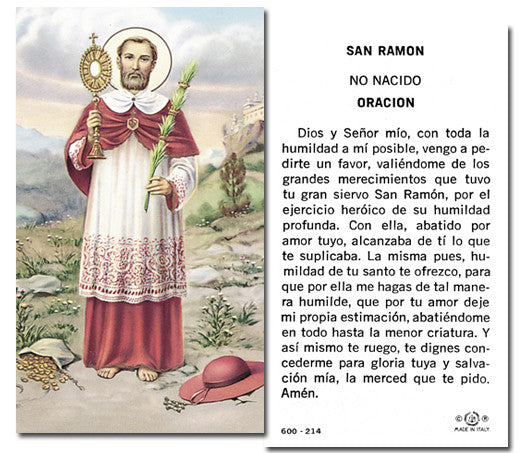Image of SAN RAMON NONATO HOLY CARD