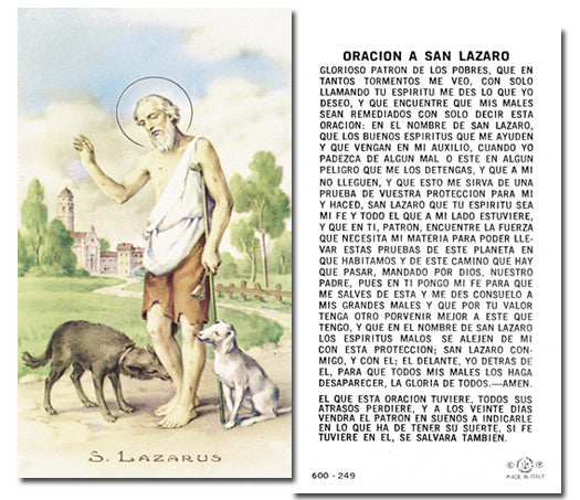 Image of SAN LAZARUS HOLY CARD