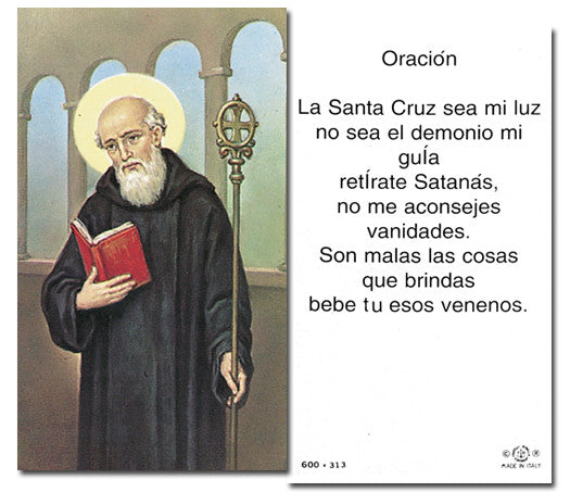 Image of ST.BENEDICT HOLY CARD