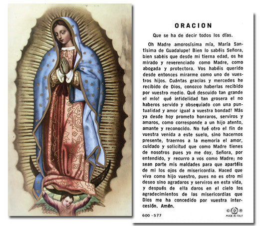 Image of ORACION OUR LADY OF GUADALUPE