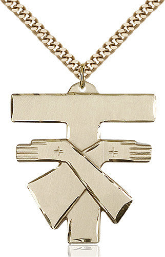 fransciscan_cross_pendant_14_karat_gold_filled