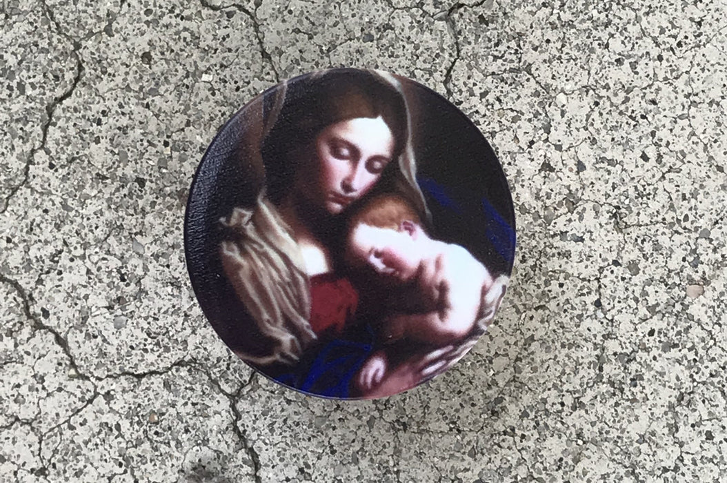Madonna and Child Faith Socket: Expandable Cell Phone Stand