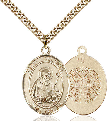 Image of St. Benedict Pendant (Gold Filled)