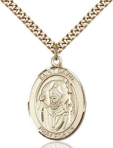 Image of St. David of Wales Pendant (Gold Filled)