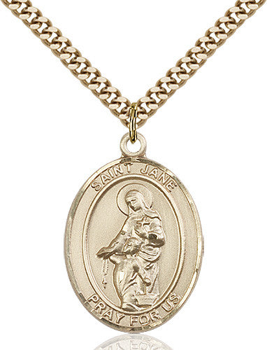 Image of St. Jane of Valois Pendant (Gold Filled)
