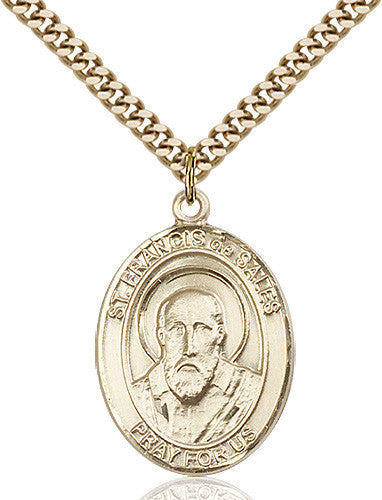 Image of St. Francis de Sales Pendant (Gold Filled)