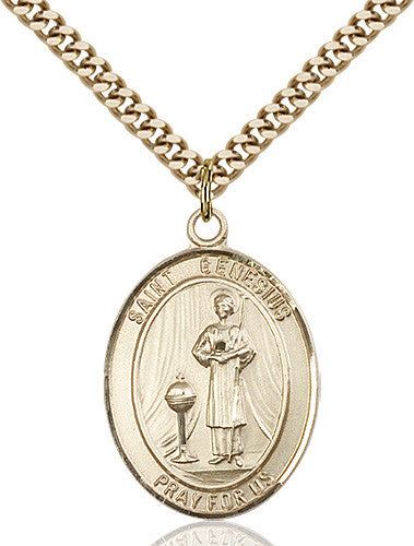 Image of St. Genesius of Rome Pendant (Gold Filled)