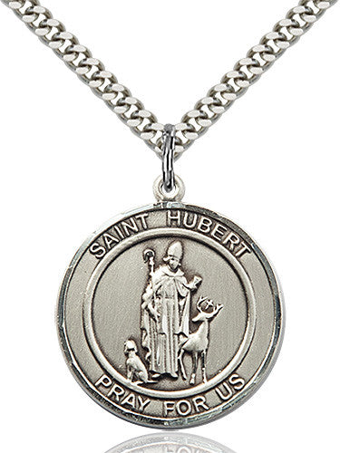 St. Hubert of Liege Pendant (Sterling Silver)