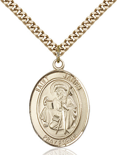 Image of St. James the Greater Pendant (Gold Filled)