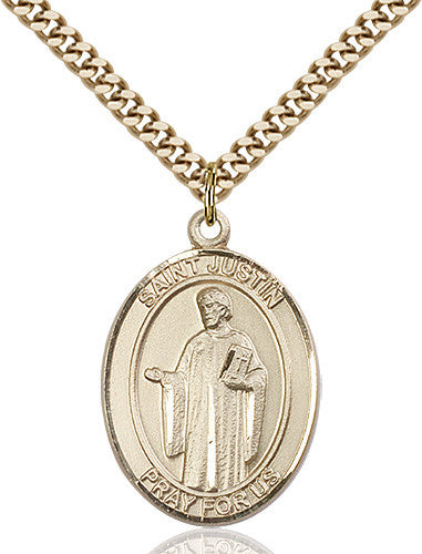 Image of St. Justin Pendant (Gold Filled)