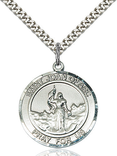 Image of St. Joan of Arc Pendant (Sterling Silver)