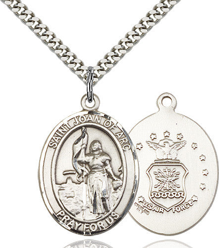 Image of St. Joan of Arc / Air Force Pendan (Sterling Silver)