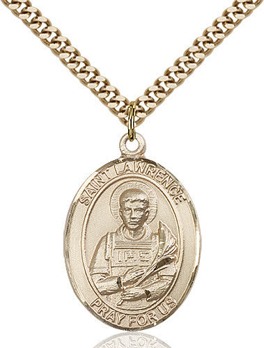 Image of St. Lawrence Pendant (Gold Filled)